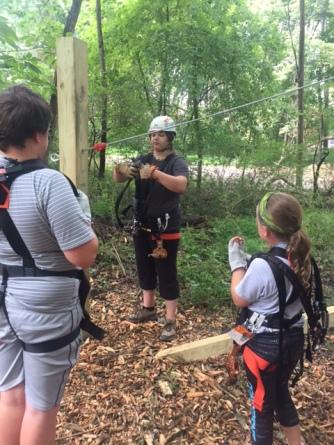 Ranger training the kids